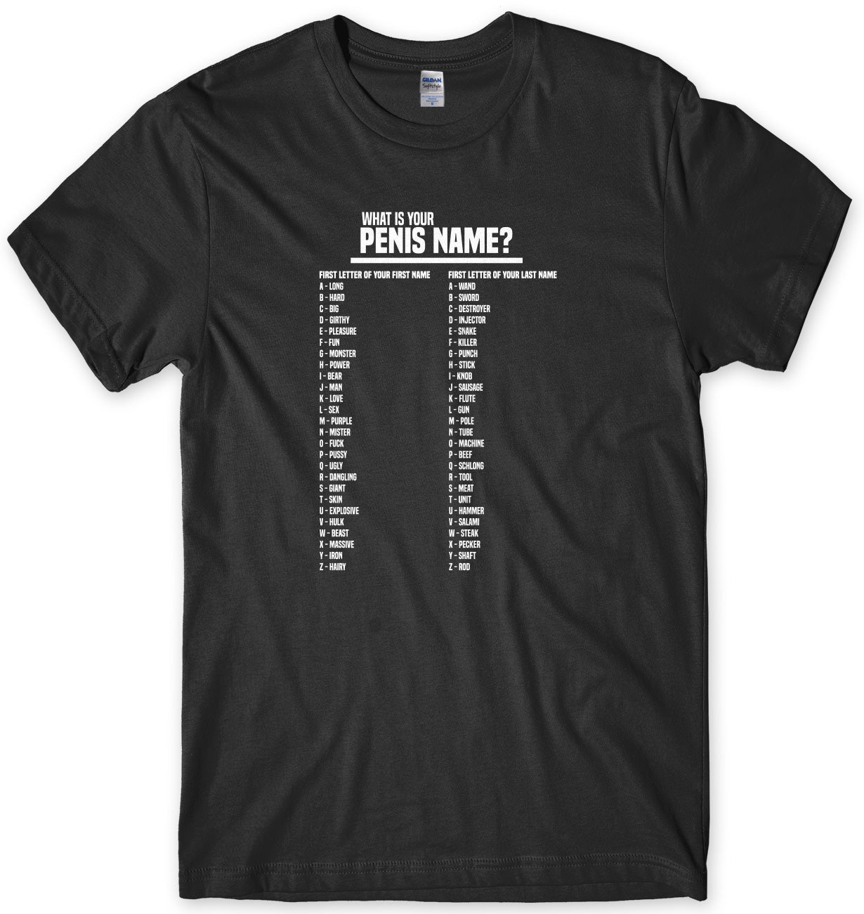 What Is Your Penis Name? Mens Unisex T-Shirt