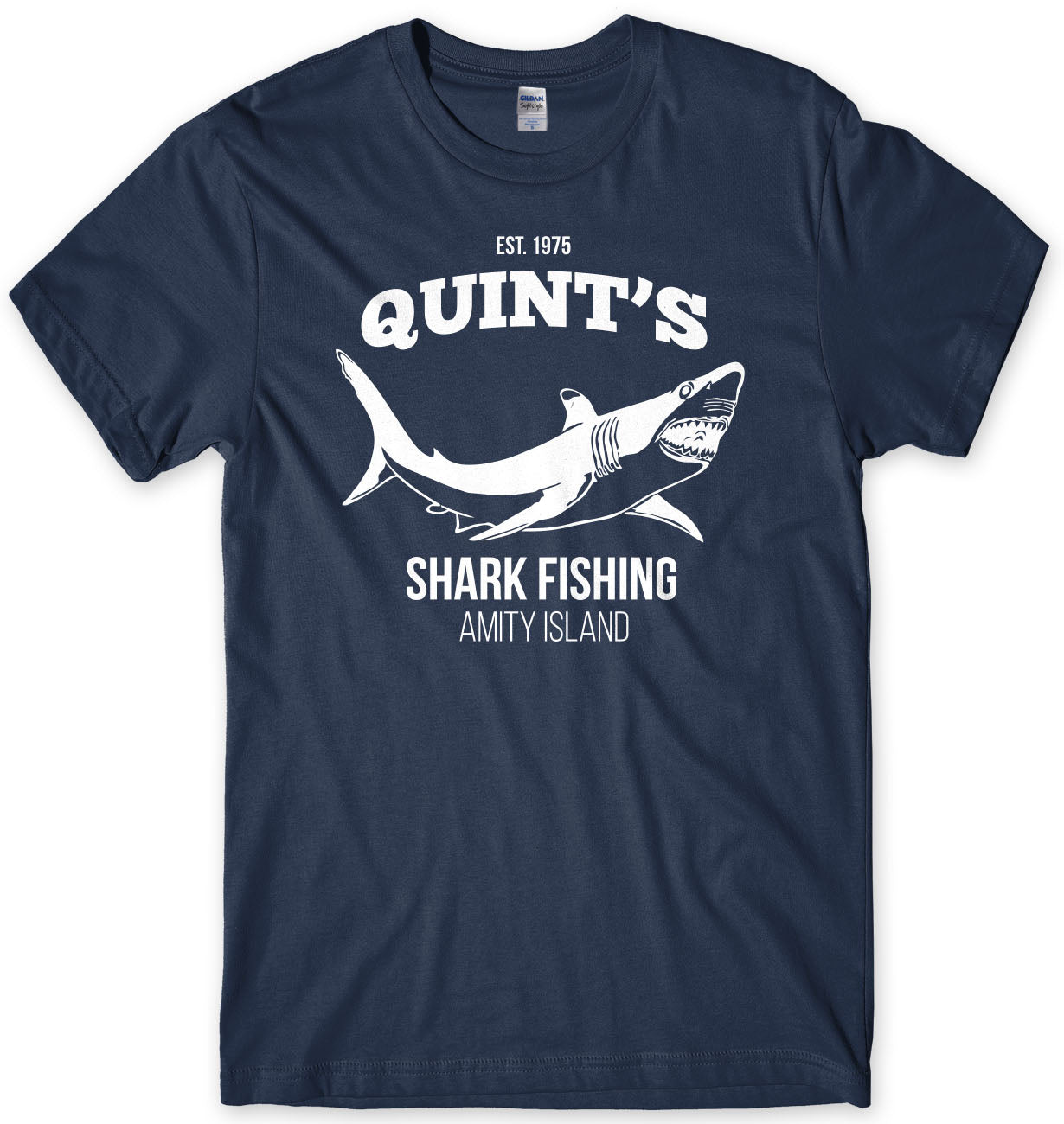 Quints Shark Fishing Inspired By Jaws Mens T-Shirt