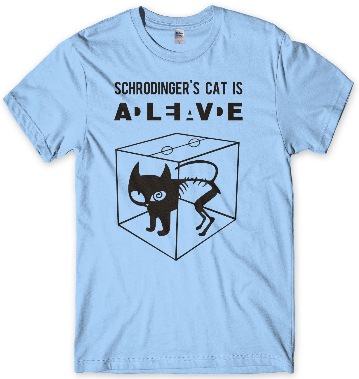 Schrodinger's Cat DEAD Or Alive Sheldon Cooper Inspired Mens T-Shirt