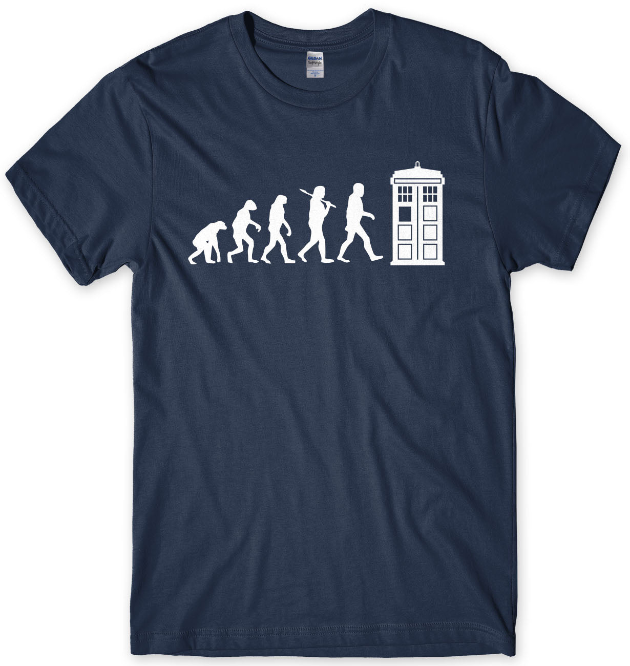 Evolution Of Police Box Dr Who Inspired Mens T-shirt