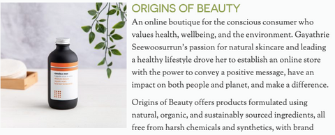 Origins of Beauty features in Sublime Magazine - Best Natural Brands 2020