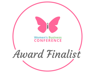 Women's Business Conference Award Finalist Stickerin honour of our founder Gayathrie Seewoosurrun