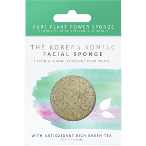 Konjac Facial Puff Sponge With Green Tea - Origins of Beauty 'Guilt Free Beauty and Wellbeing'