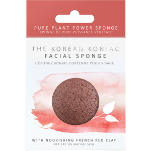 Konjac Facial Puff Sponge with Red French Clay Origins of Beauty 'Guilt Free Beauty and Wellbeing'