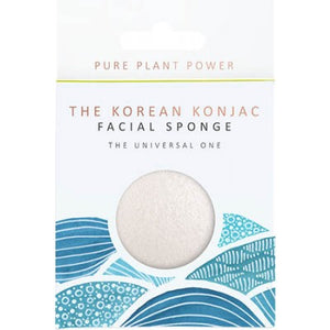 The Konjac Sponge Company Elements Water - 100% Pure White Facial Puff Origins of Beauty 'Guilt Free Beauty and Wellbeing'