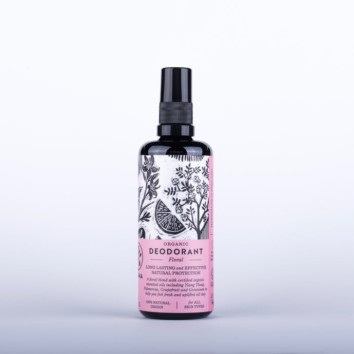 HAOMA Floral Organic Deodorant - 100ml Origins of Beauty 'Guilt Free Beauty and Wellbeing'