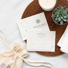 Origins of Beauty Gift Card Origins of Beauty 'Guilt Free Beauty and Wellbeing'