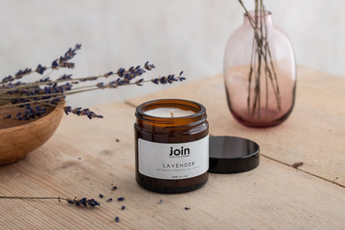 Join Apothecary Lavender Scented Soy Wax Candle Origins of Beauty 'Guilt Free Beauty and Wellbeing'