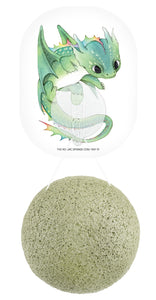 The Konjac Sponge Company Mythical Dragon Konjac Green Clay Sponge & Hook - Origins of Beauty 'Guilt Free Beauty and Wellbeing'