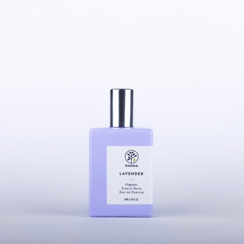 HAOMA Lavender Organic Single Note Eau De Parfum - 50ml Origins of Beauty 'Guilt Free Beauty and Wellbeing'