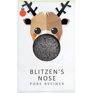 The Konjac Sponge Company Blitzen Mini Pore Refiner - Bamboo Charcoal - Origins of Beauty 'Guilt Free Beauty and Wellbeing'