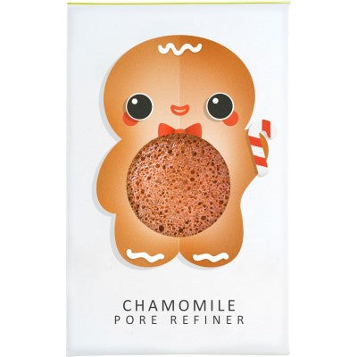 The Konjac Sponge Company Gingerbread Man Mini Pore Refiner - Chamomile - Origins of Beauty 'Guilt Free Beauty and Wellbeing'
