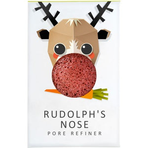 The Konjac Sponge Company Rudolph Mini Pore Refiner - French Red Clay - Origins of Beauty 'Guilt Free Beauty and Wellbeing'