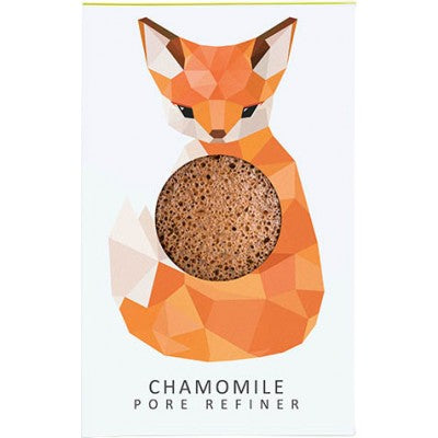 The Konjac Sponge Company Mini Pore Refiner Woodland Fox - Chamomile - Origins of Beauty 'Guilt Free Beauty and Wellbeing'