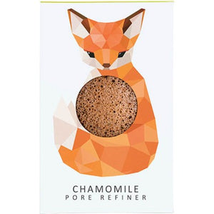 The Konjac Sponge Company Mini Pore Refiner Woodland Fox - Chamomile  Konjac Sponge, Facial Sponge, Pore Refiner Origins of Beauty 'Guilt Free Beauty and Wellbeing'