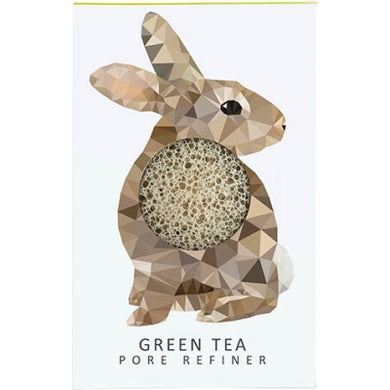 The Konjac Sponge Company Mini Pore Refiner Woodland Rabbit - Green Tea - Origins of Beauty 'Guilt Free Beauty and Wellbeing'