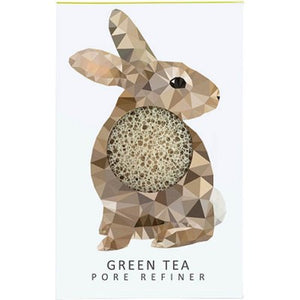 The Konjac Sponge Company Mini Pore Refiner Woodland Rabbit - Green Tea Origins of Beauty 'Guilt Free Beauty and Wellbeing'