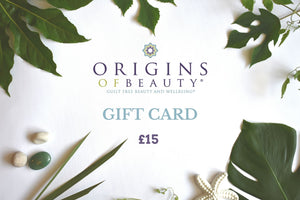 Origins of Beauty E-Gift Card Origins of Beauty 'Guilt Free Beauty and Wellbeing'