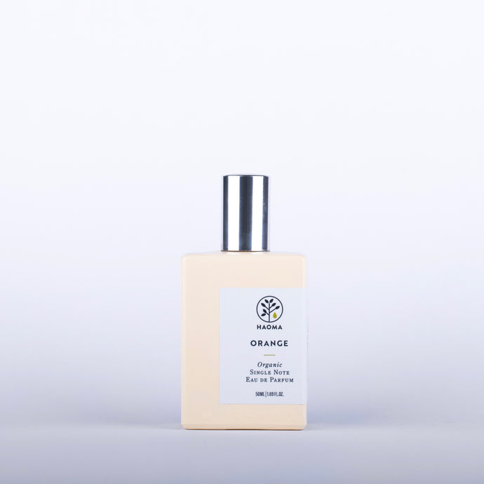 HAOMA Orange Organic Single Note Eau De Parfum - 50ml Origins of Beauty 'Guilt Free Beauty and Wellbeing'