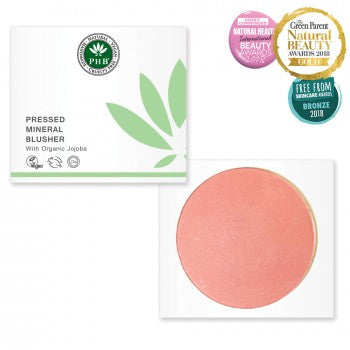 PHB Pressed Mineral Blusher - SPF 15 Origins of Beauty 'Guilt Free Beauty and Wellbeing'