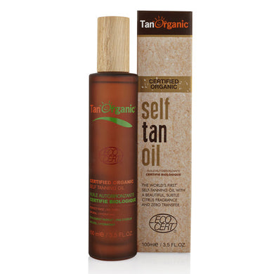TanOrganic Certified Organic Self Tan Oil - 100ml Origins of Beauty 'Guilt Free Beauty and Wellbeing'