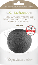 The Konjac Sponge Company Konjac Gentleman's Shaving Sponge With Bamboo Charcoal - Suitable for  Sensitive Skin