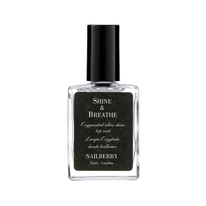 Nailberry Shine & Breathe 15ml - Top Coat Origins of Beauty 'Guilt Free Beauty and Wellbeing'