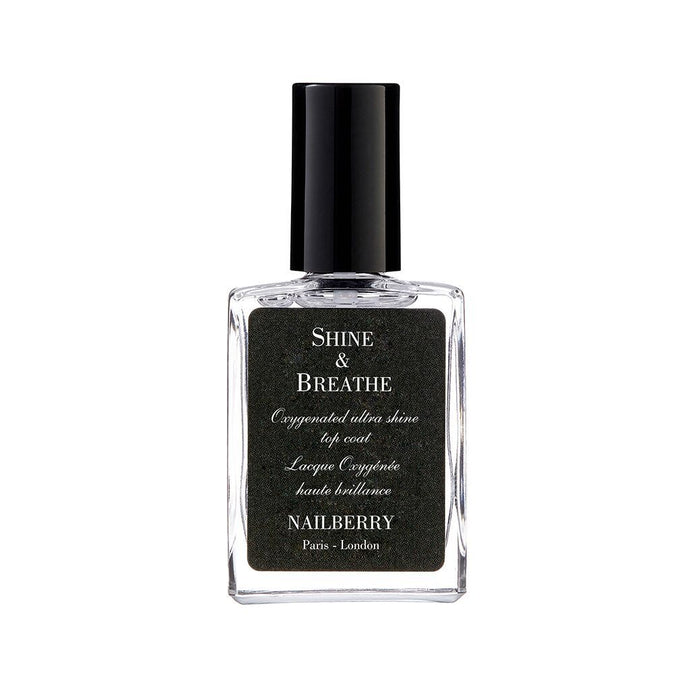 Nailberry Shine & Breathe 15ml - Top Coat - Origins of Beauty 'Guilt Free Beauty and Wellbeing'