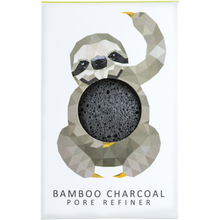 The Konjac Sponge Company Rainforest Sloth Mini Bamboo Charcoal Pore Refiner -