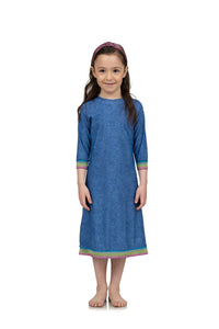 Kids Denim Elastic Swim Dress