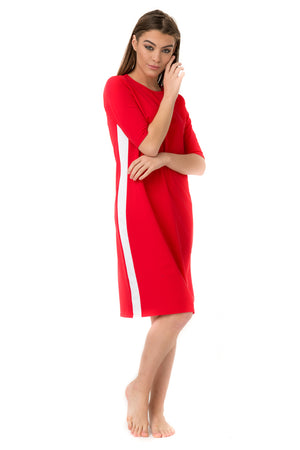 Red Racer Swim Dress