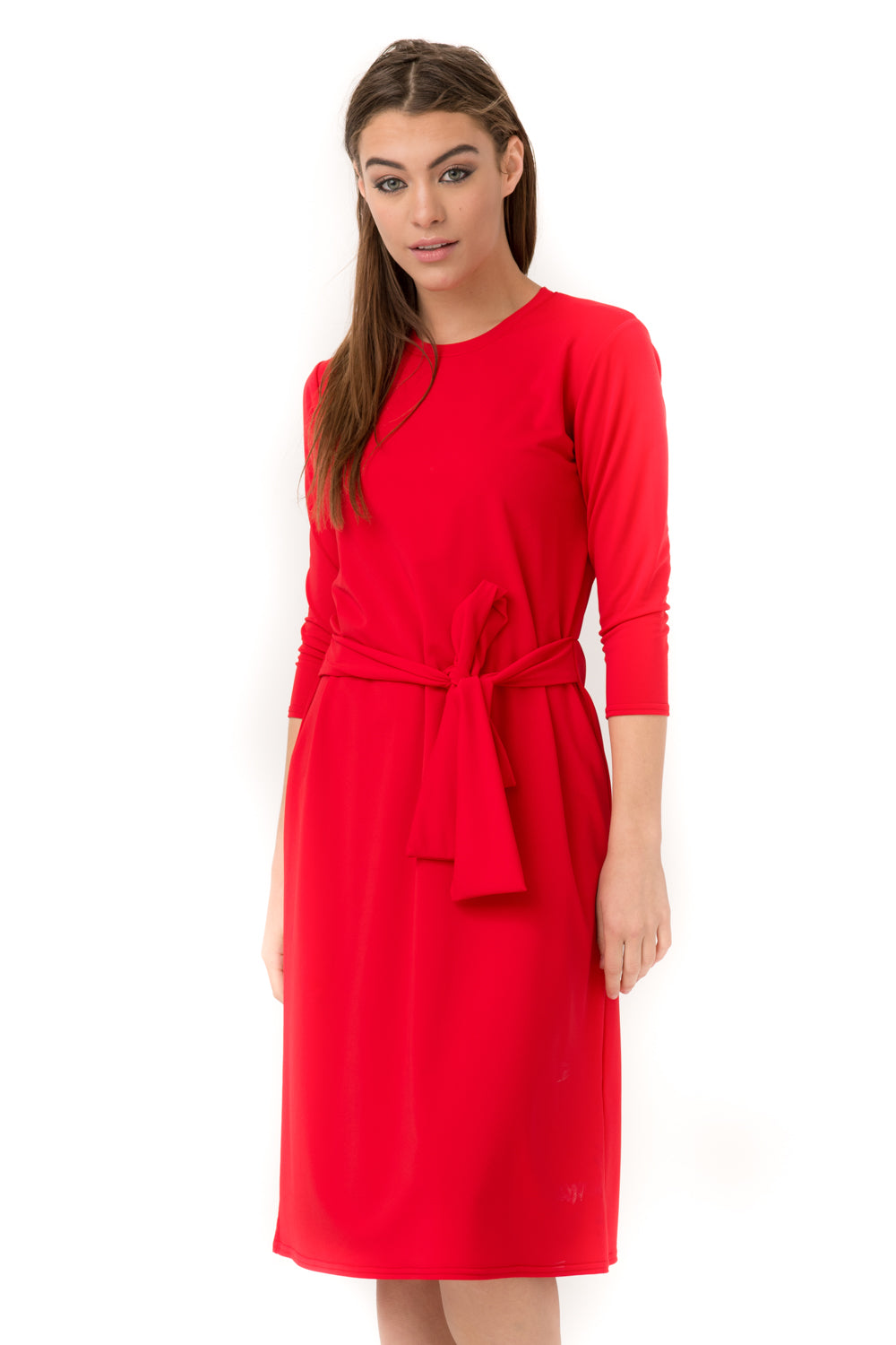 Red Sash Dress