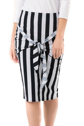 Striped Sash Skirt