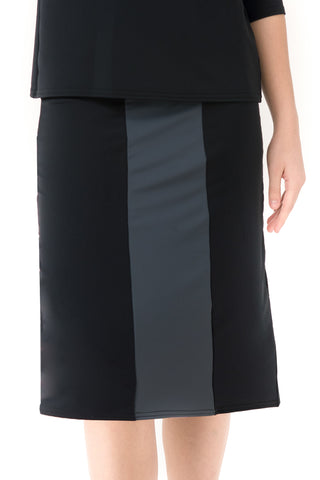 BLACK/GREY A-LINE SKIRT