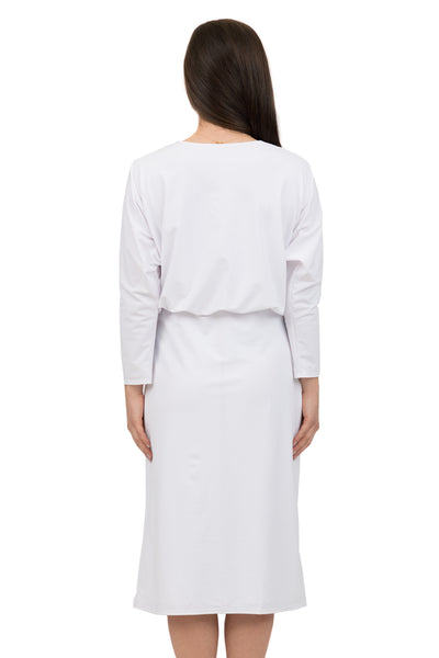 White Blousson Dress