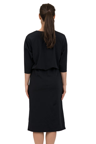 Black Blousson Dress