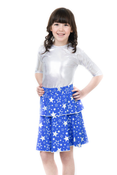 Kids Metallic & Blue Star 2-Piece
