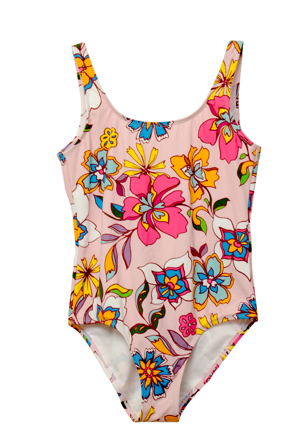 Kids Pink Floral Bathing Suit