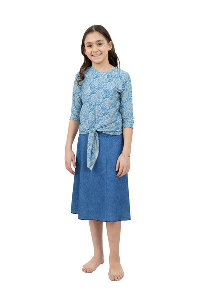 Grey Reptile Pencil Skirt