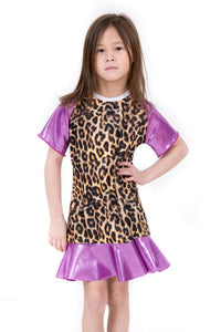 Purple Leopard Mini Me Dress