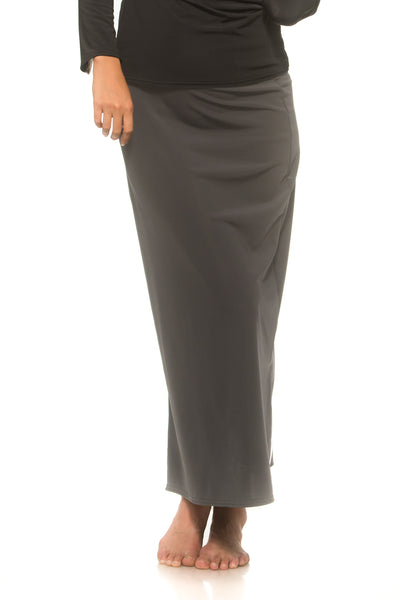 Long Black Maxi Swim Skirt