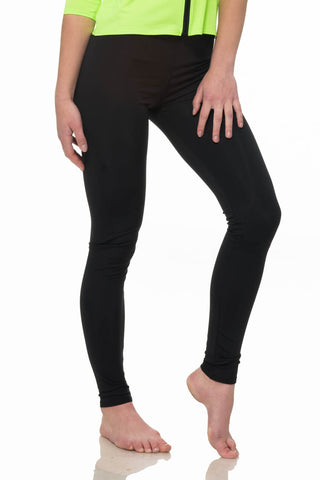 Long Black Swim Leggings