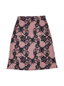 Pink Lace A-Line Swim Skirt