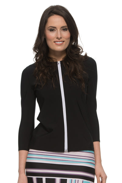 Ladies 3/4 Sleeve With Full Zipper