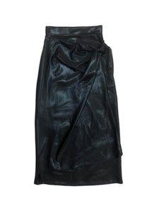 Black Maxi Wrap Skirt