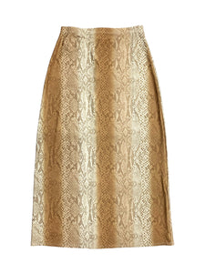 Brown Snakeskin Maxi Skirt