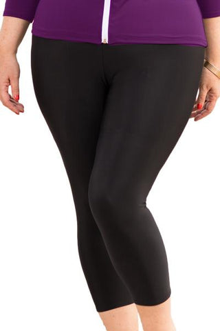 Ladies Black Swim Leggings PLUS