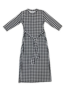 Ladies Houndstooth Sash Dress