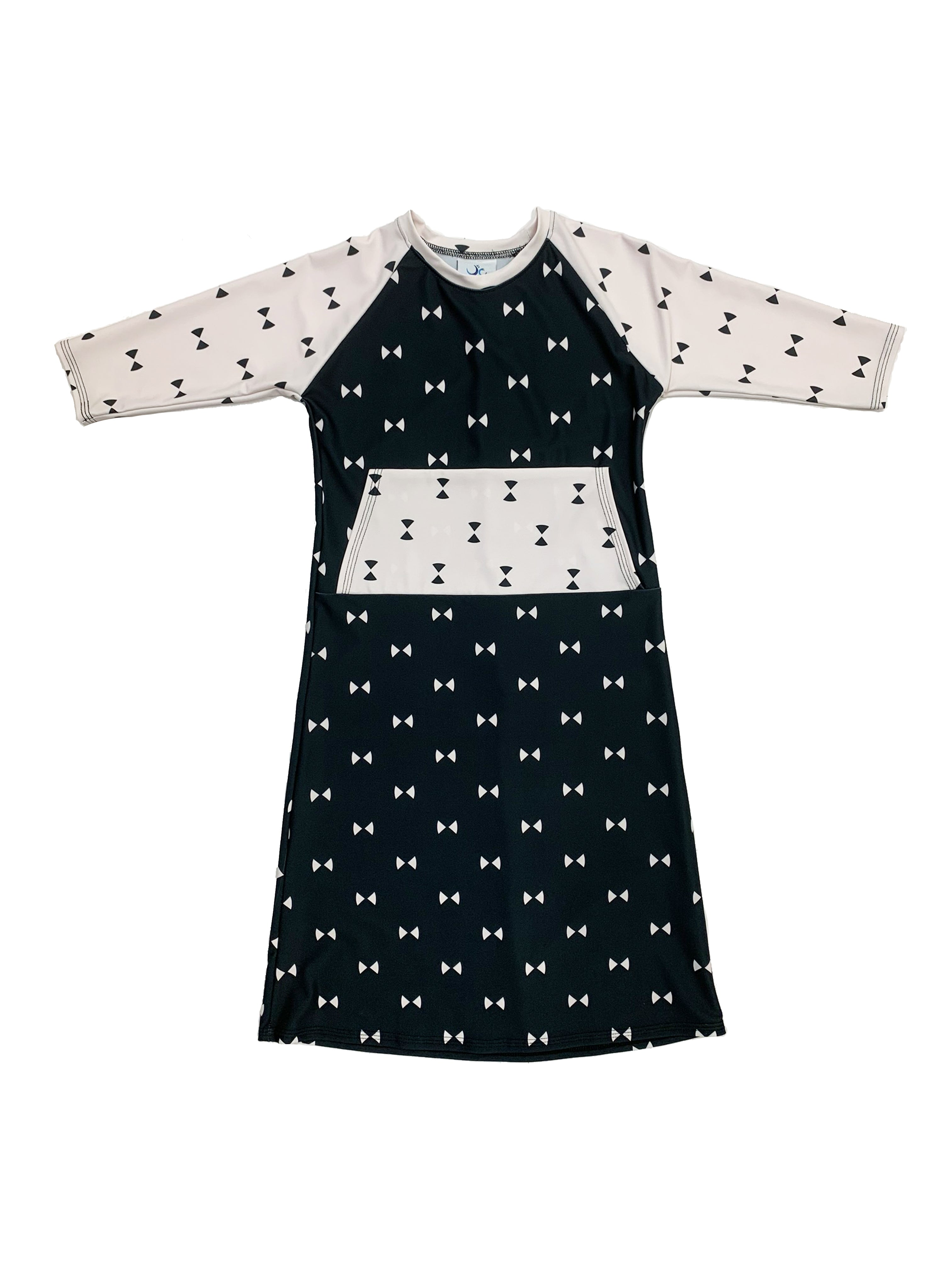 Kids Bow Dress With Pocket