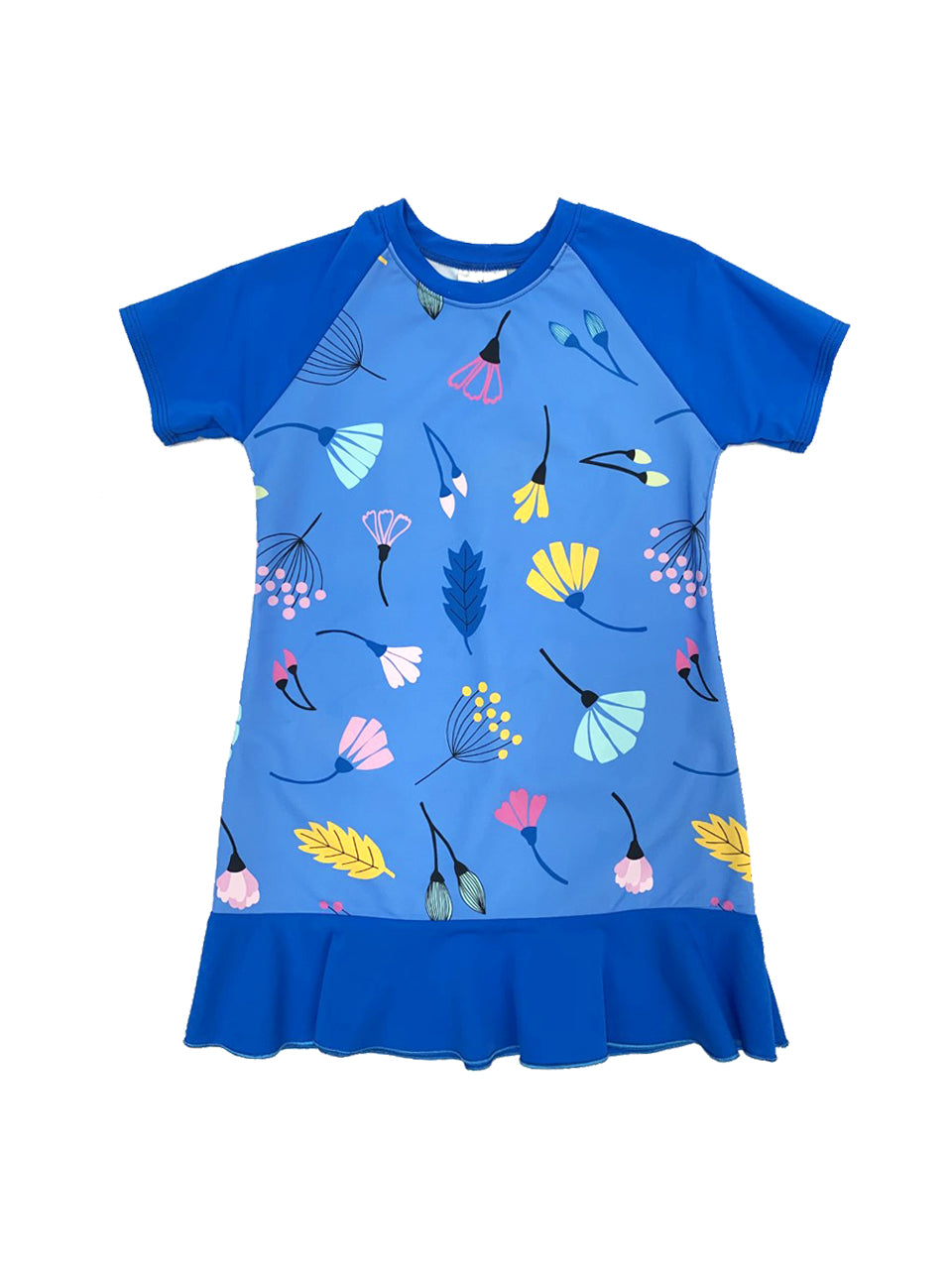 Blue Deco Toddler Dress